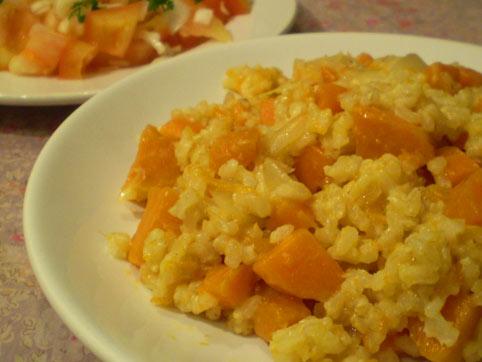 Arroz naranja arroz integral con zanahoria y calabaza - Pure de patatas y calabaza ...