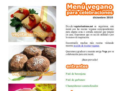 men s veganos recetas veganas recetas vegetarianas On menu para veganos