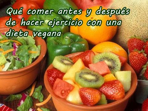 ¿Qué comer antes y después de hacer ejercicio siendo vegano? -